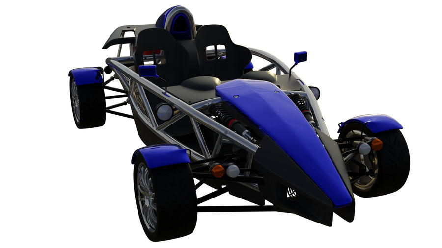 Wyścigowy samochód wyścigowy royalty-free 3d model - Preview no. 2
