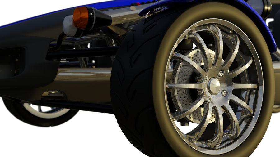 Wyścigowy samochód wyścigowy royalty-free 3d model - Preview no. 7