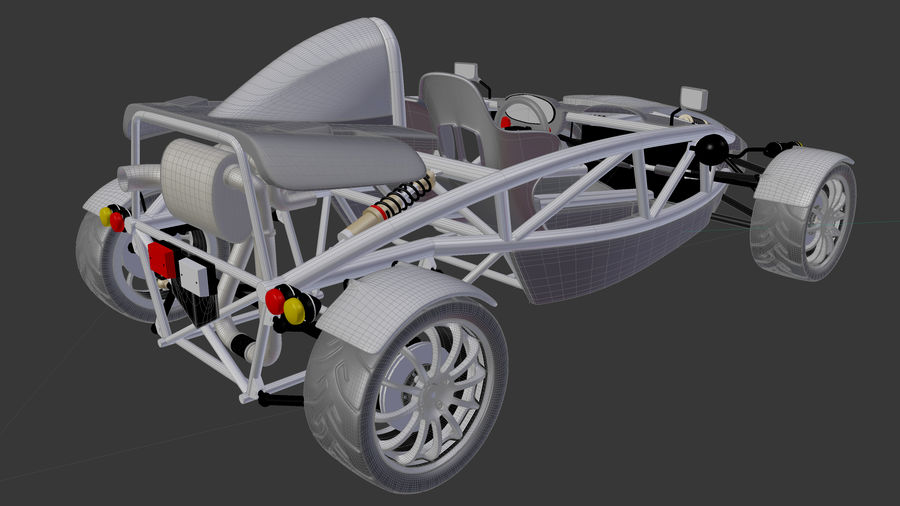 Wyścigowy samochód wyścigowy royalty-free 3d model - Preview no. 25
