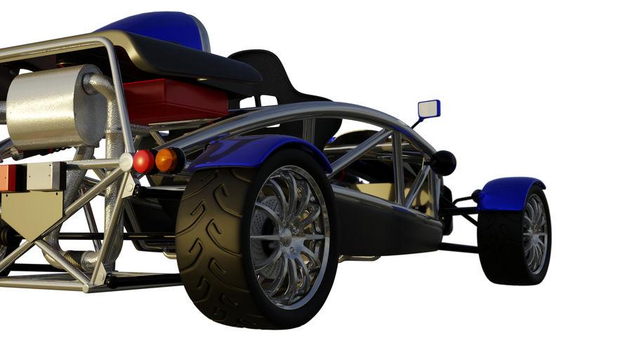Wyścigowy samochód wyścigowy royalty-free 3d model - Preview no. 13