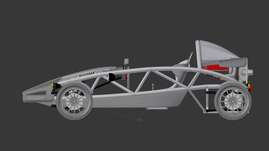 Wyścigowy samochód wyścigowy royalty-free 3d model - Preview no. 22