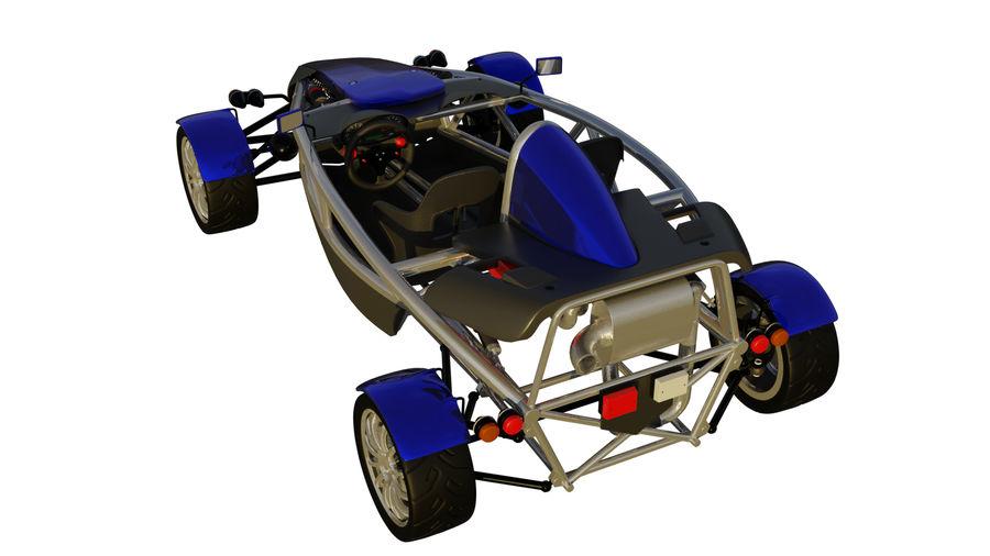 Wyścigowy samochód wyścigowy royalty-free 3d model - Preview no. 31