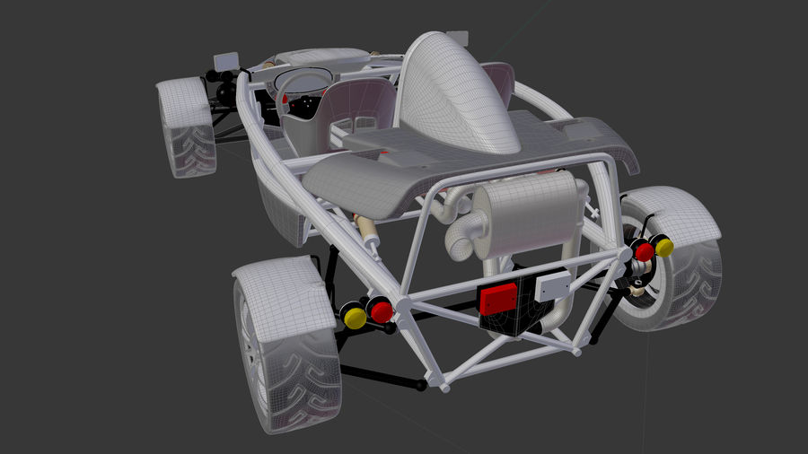 Wyścigowy samochód wyścigowy royalty-free 3d model - Preview no. 20