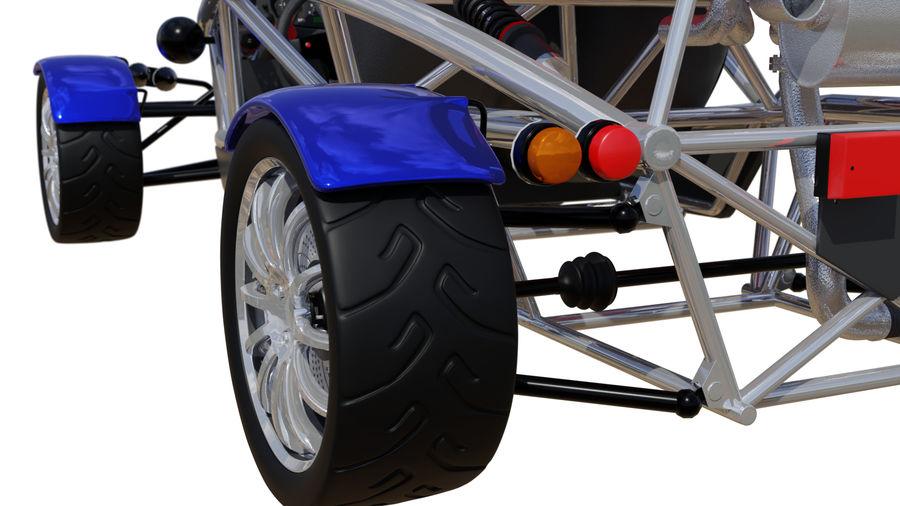 Wyścigowy samochód wyścigowy royalty-free 3d model - Preview no. 11