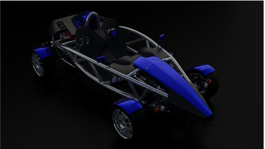 Wyścigowy samochód wyścigowy royalty-free 3d model - Preview no. 16