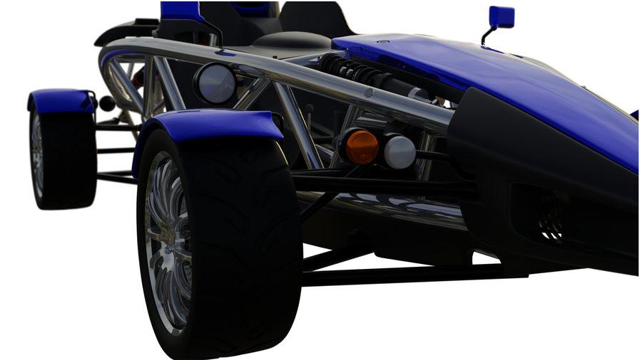 Wyścigowy samochód wyścigowy royalty-free 3d model - Preview no. 26