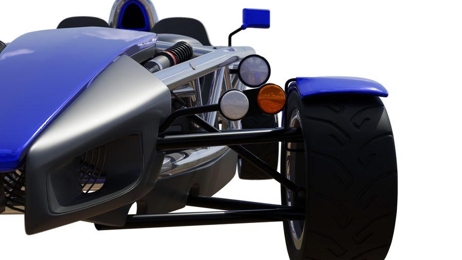 Wyścigowy samochód wyścigowy royalty-free 3d model - Preview no. 9