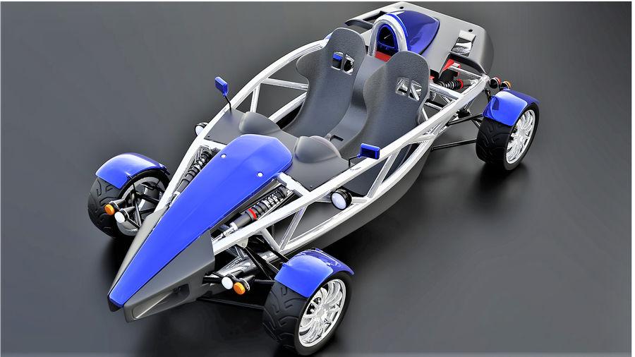 Wyścigowy samochód wyścigowy royalty-free 3d model - Preview no. 1