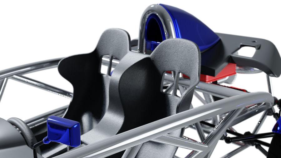Wyścigowy samochód wyścigowy royalty-free 3d model - Preview no. 30