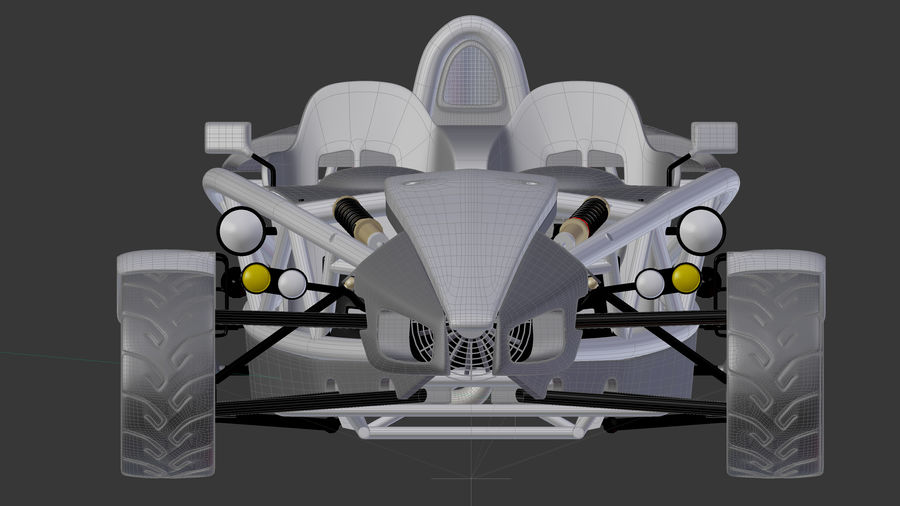 Wyścigowy samochód wyścigowy royalty-free 3d model - Preview no. 23