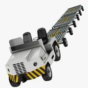 Tractor de remolque de equipaje 2 modelo 3d
