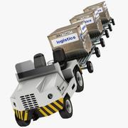 Tractor de remolque de equipaje 1 modelo 3d