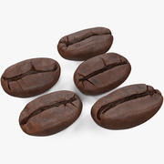Coffee Beans Roasted 3d model