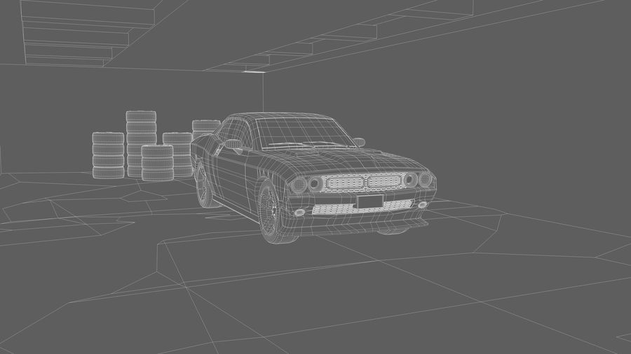 Мускул кар / Challenger 2019 royalty-free 3d model - Preview no. 2