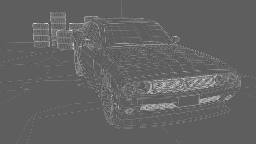Мускул кар / Challenger 2019 royalty-free 3d model - Preview no. 12