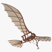 Leonardo Da Vinci Flying Machine Rigged 3d model