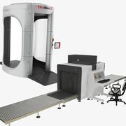 Röntgenstråle för hela kroppen och säkerhet Röntgenmaskintransportör 3d model
