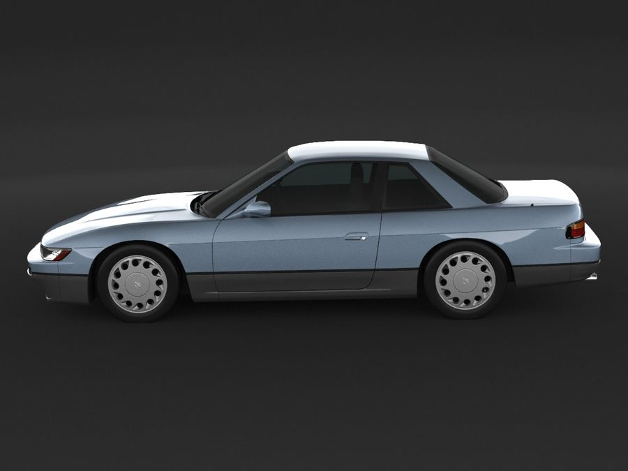 Nissan Silvia S13 Coupe royalty-free 3d model - Preview no. 5
