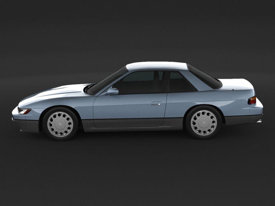 日産シルビアS13クーペ royalty-free 3d model - Preview no. 5