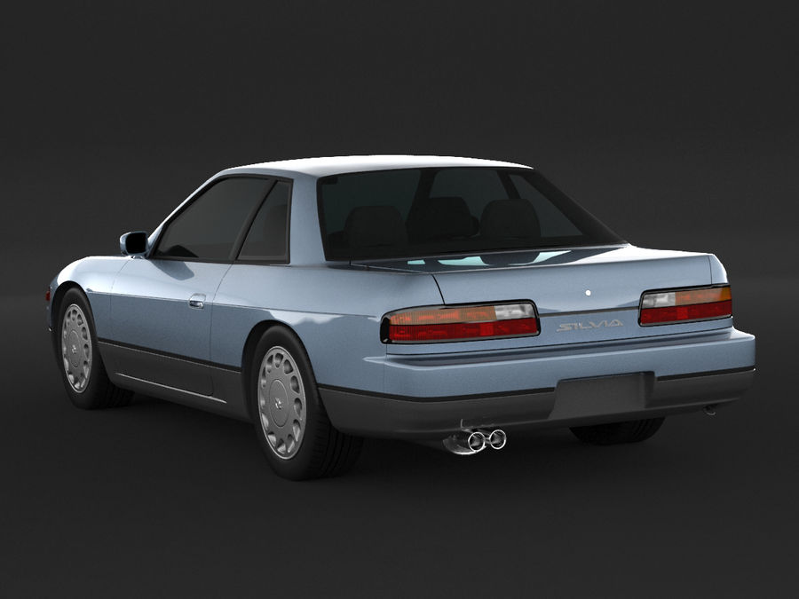 日産シルビアS13クーペ royalty-free 3d model - Preview no. 4
