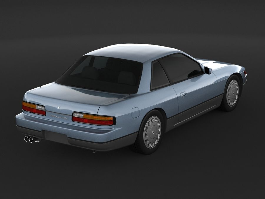 Nissan Silvia S13 Coupe royalty-free 3d model - Preview no. 7