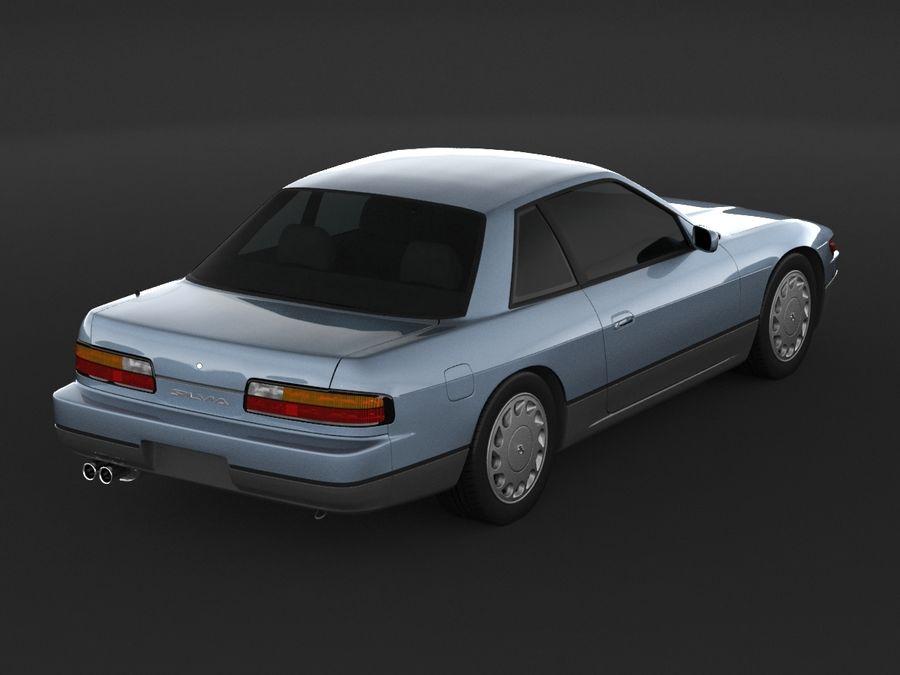 日産シルビアS13クーペ royalty-free 3d model - Preview no. 7