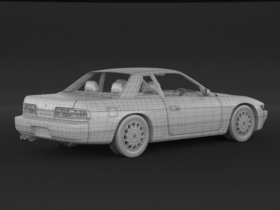 Nissan Silvia S13 Coupe royalty-free 3d model - Preview no. 9