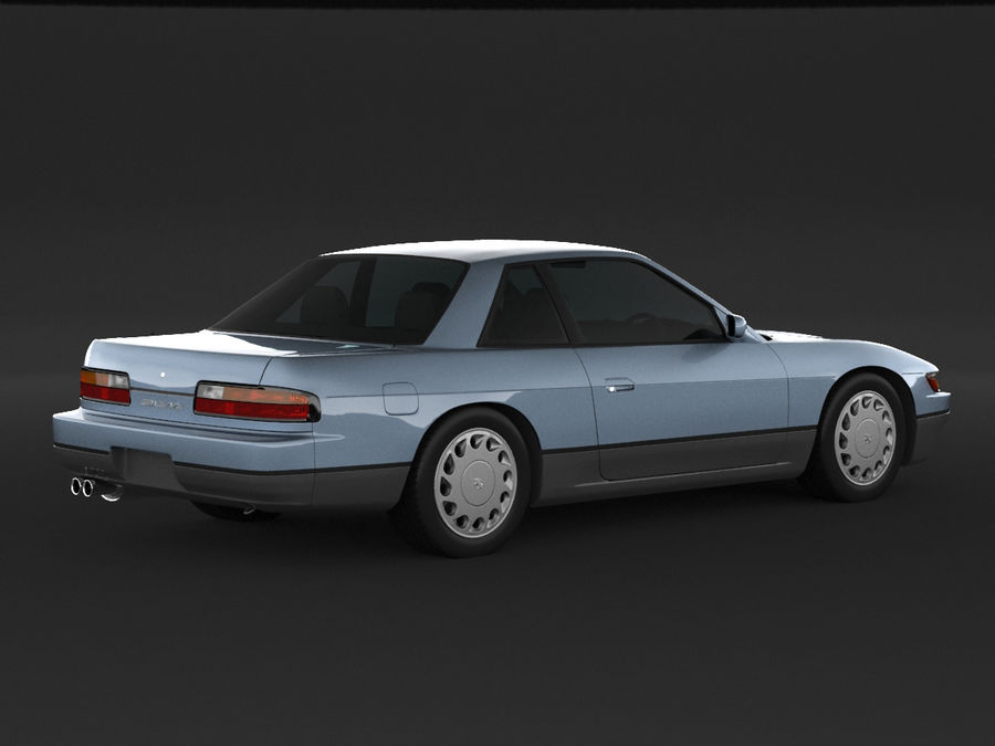 日産シルビアS13クーペ royalty-free 3d model - Preview no. 2
