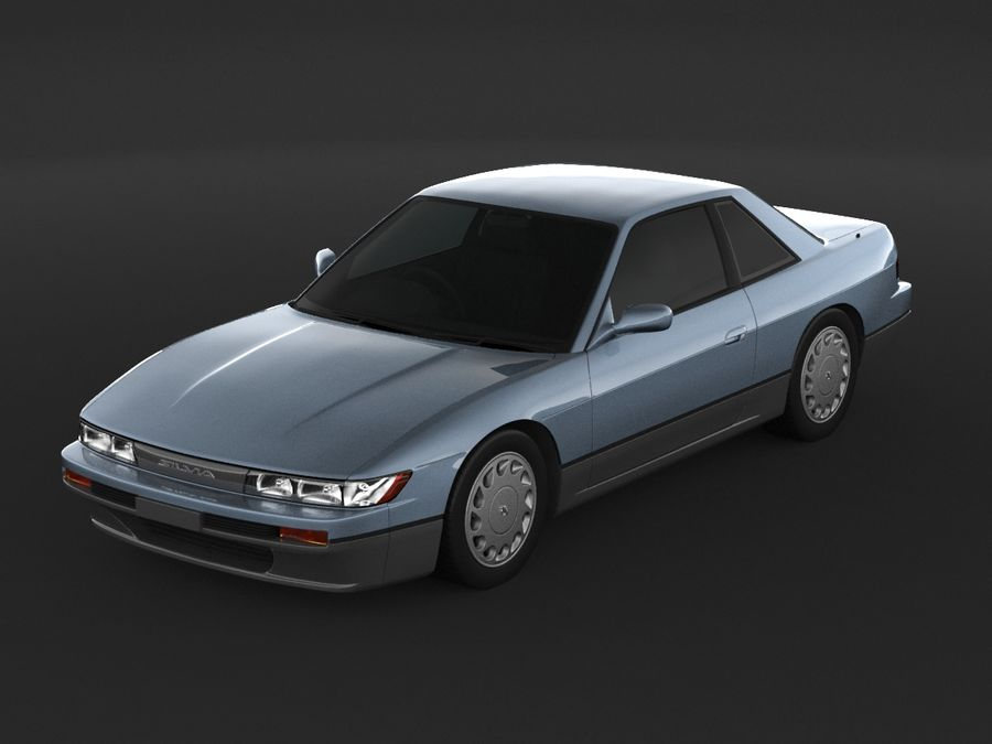 Nissan Silvia S13 Coupe royalty-free 3d model - Preview no. 6