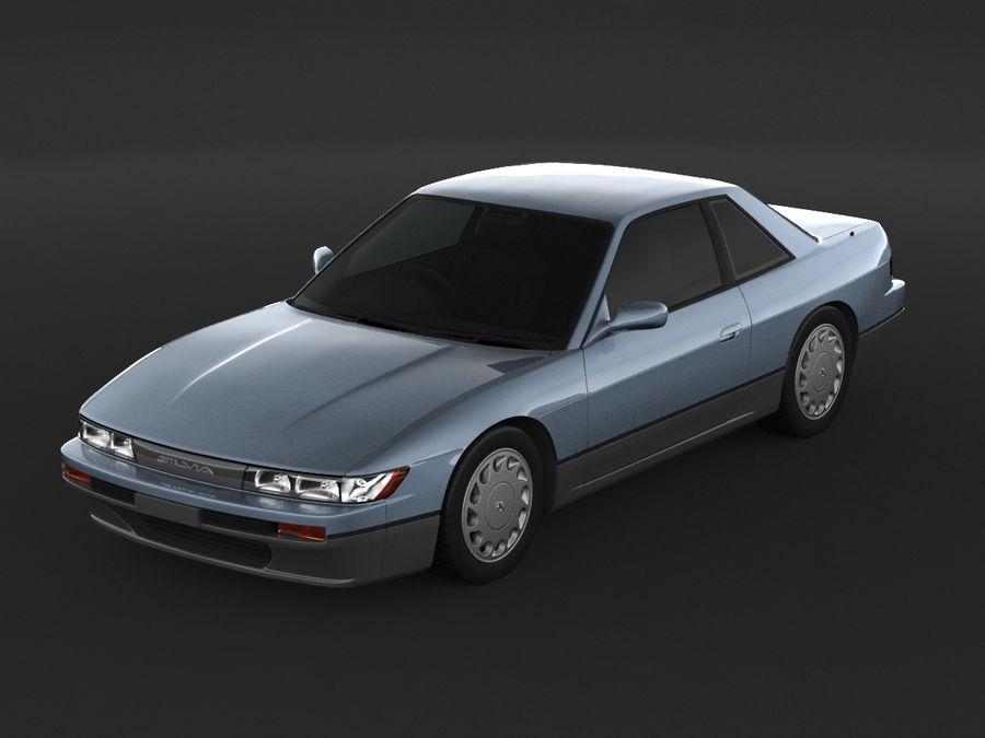 日産シルビアS13クーペ royalty-free 3d model - Preview no. 6