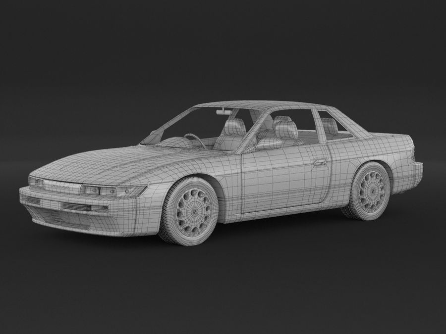 Nissan Silvia S13 Coupe royalty-free 3d model - Preview no. 8