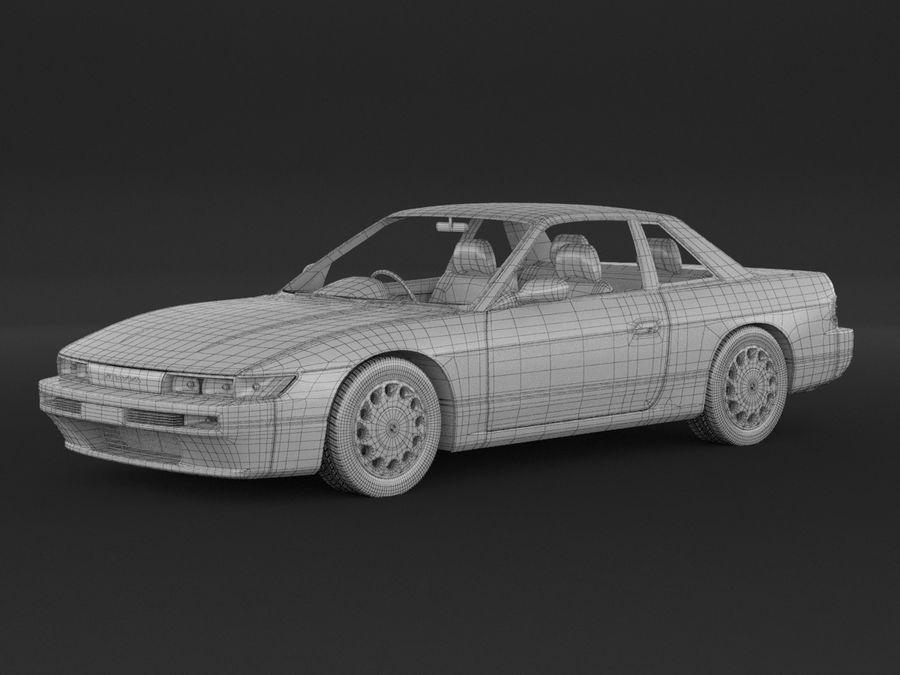 日産シルビアS13クーペ royalty-free 3d model - Preview no. 8