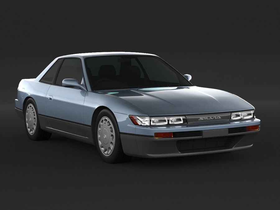 Nissan Silvia S13 Coupe royalty-free 3d model - Preview no. 3