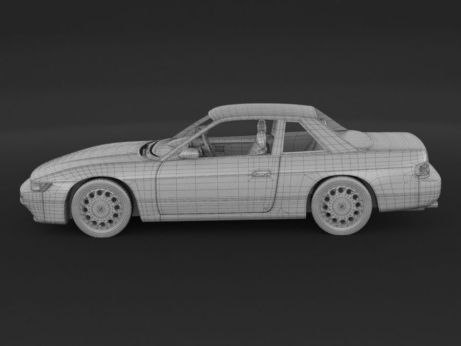 Nissan Silvia S13 Coupe royalty-free 3d model - Preview no. 10