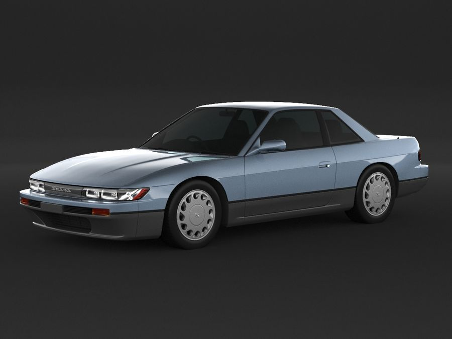 Nissan Silvia S13 Coupe royalty-free 3d model - Preview no. 1