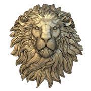 Mask 014 lion Face Relief 3d model