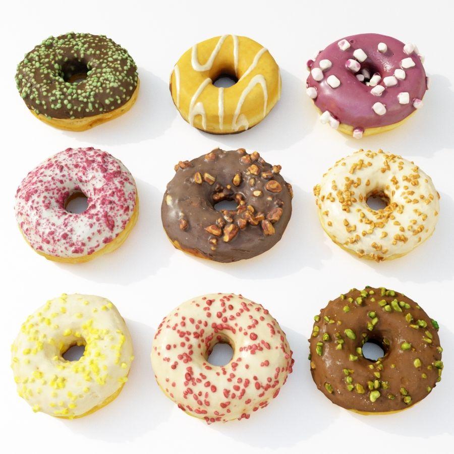 Donut Koleksiyonu 2 royalty-free 3d model - Preview no. 1