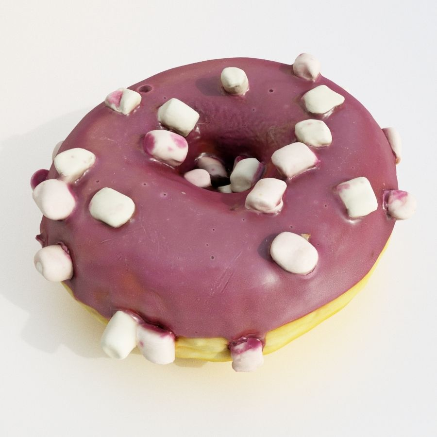 Donut Koleksiyonu 2 royalty-free 3d model - Preview no. 11