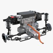 Nissan Leaf Engine och Front Suspension 2 3d model