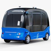 Självkörande buss Baidu Apolong 3d model