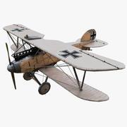 Albatros DIII WW1 3d model