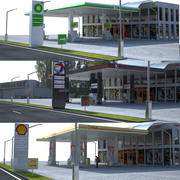 Gas Stations Collection 3d model