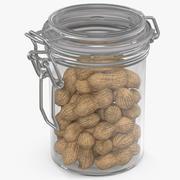 Glass Jar with Peanuts 3d model
