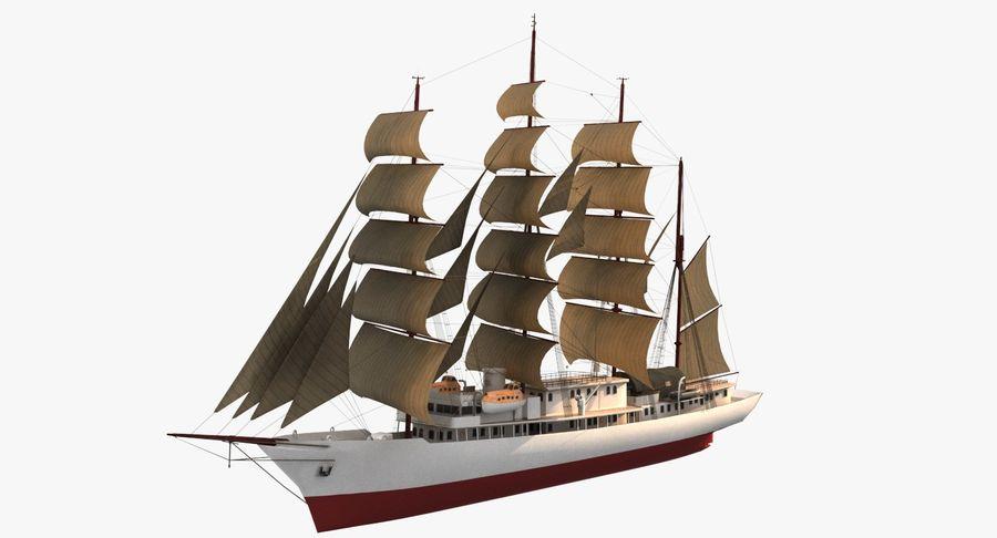 帆船快船 royalty-free 3d model - Preview no. 2