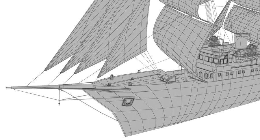 帆船快船 royalty-free 3d model - Preview no. 22