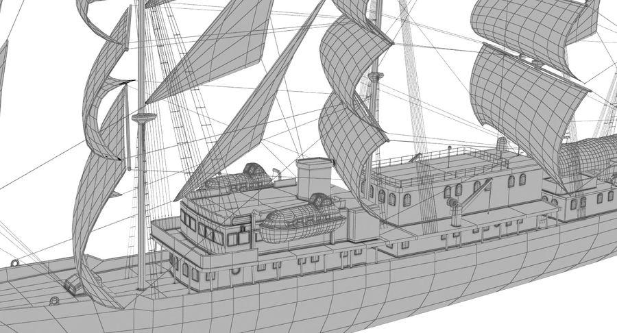 帆船快船 royalty-free 3d model - Preview no. 23