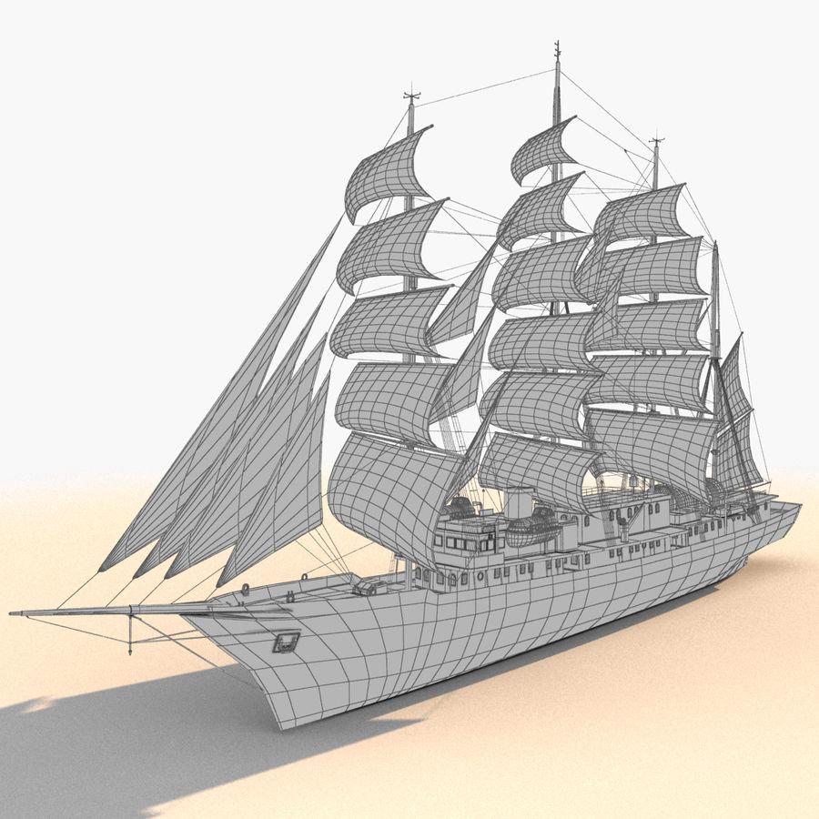 帆船快船 royalty-free 3d model - Preview no. 26
