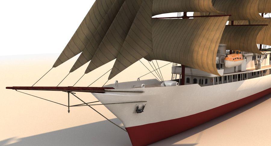 帆船快船 royalty-free 3d model - Preview no. 11