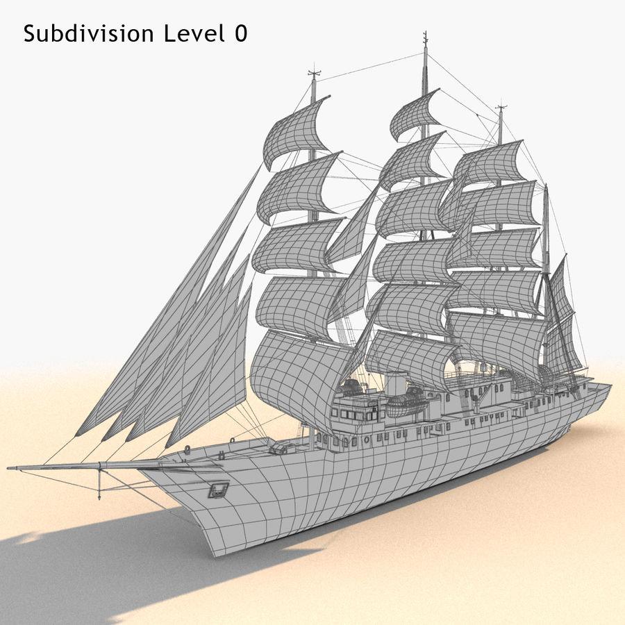 帆船快船 royalty-free 3d model - Preview no. 29