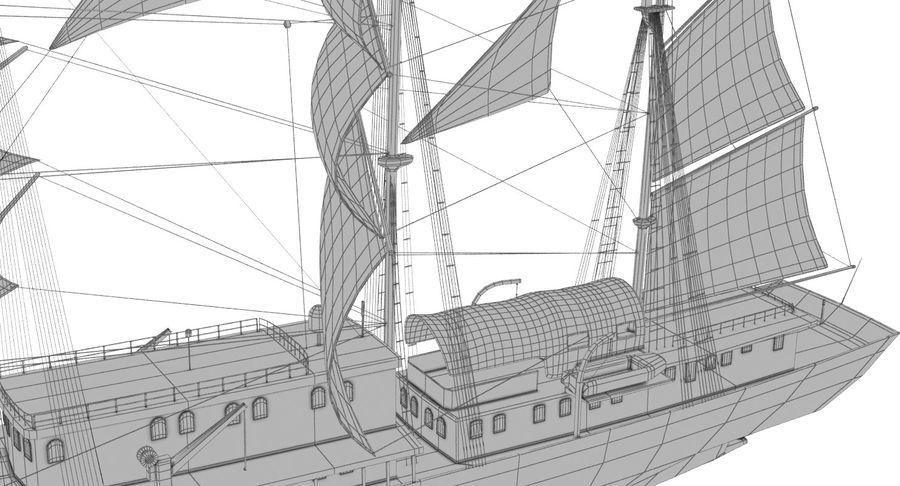 帆船快船 royalty-free 3d model - Preview no. 24